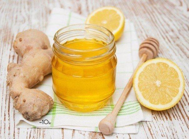 мёд с лимоном и имбирём